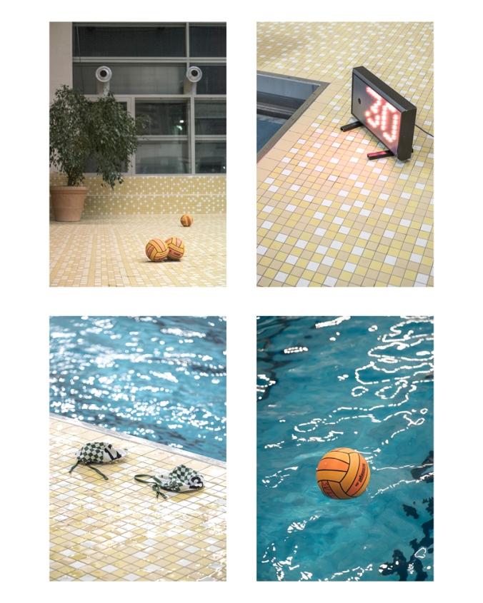 Szenen am Rande eines Wasserball-Spiels