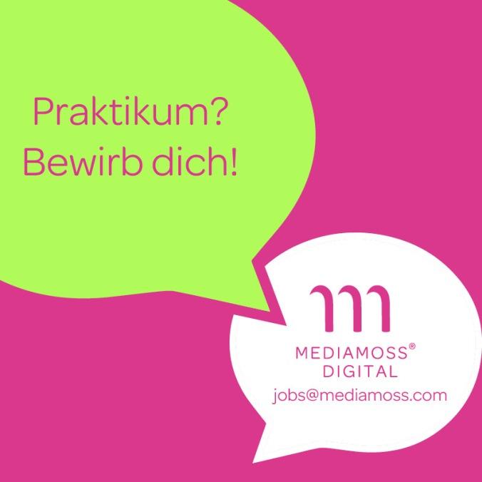 Mediamoss Digital Social Media Agentur Dortmund Praktikum